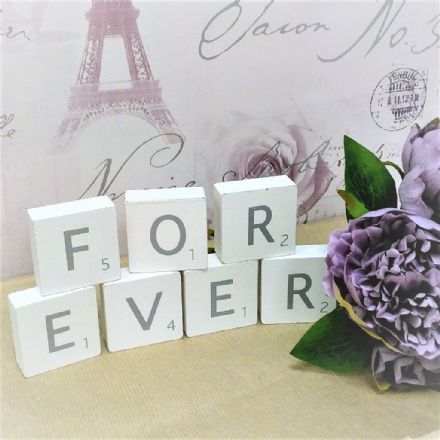 50% off Fabulous giant scrabble style blocks 'FOREVER'